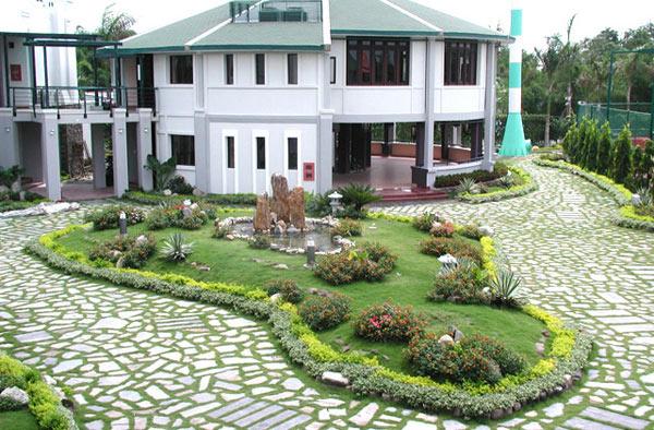 bố trí sân vườn theo phong thủy