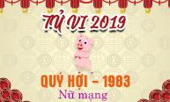 Xem tử vi tuổi Quý Hợi (1983) năm 2019 nữ mạng